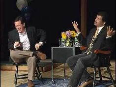 Stephen Colbert out of character interviewing Neil DeGrasse Tyson. It's a loooong video I warn you, but wonderful.