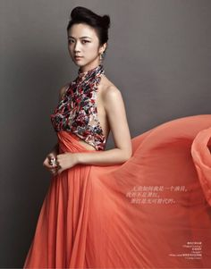 Elle China by Li Qi and styled by Hubert Chen