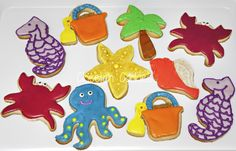 Day at the beach cookies