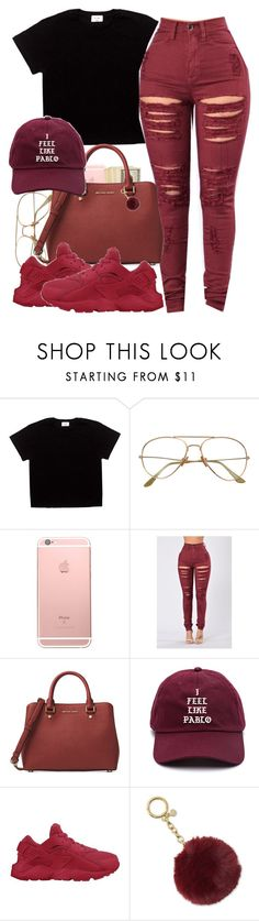 """""""Untitled #594"""" by ramenmatty ❤ liked on Polyvore featuring Michael Kors, adidas and NIKE"""