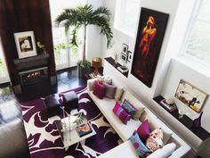 Curved Lines, Elegant Furnishings in Transitional Living Room : Designers' Portfolio : HGTV - Home & Garden Television