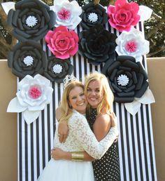 Flores de papel gigantes - flores de papel - conjunto de 11 - fondo de flor de papel - flores de papel grandes de despedida de soltera - Baby Shower-