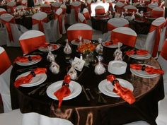 Orange And Brown Table Linens Baby Shower Pinterest