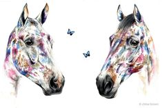 ⚜ Contemporary watercolour commission ⚜ With real flowers, painted on Saunders watercolour cotton paper. 🦋🦋🦋🦋 The image is a scan of the painting, however the butterflies are so normally cast a shadow. Chloe Brown, Contemporary Artwork, Horse Art, Real Flowers, Pet Portraits, Line Art, Watercolour, Original Artwork, Butterflies
