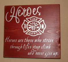 Heroes  Firefighter by DeenasDesign on Etsy, $28.00