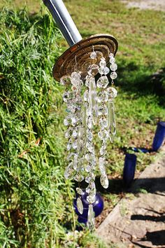 A Watering Can That Pours Crystals ~ So pretty and clever...