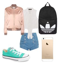 """Untitled #4"" by sydneygenek on Polyvore featuring Pierre Balmain, Converse, Yves Saint Laurent and Topshop"