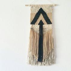 Tejidos pared que cuelga tapicería hecha a mano por TheRiverHaze