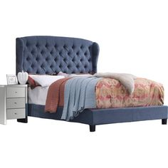 Found it at Wayfair - Felicity Upholstered Panel Bed
