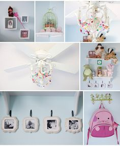 small organic bloom frames hung on ribbon Girl Room, Girls Bedroom, Organic Bloom Frames, Frame Display, Little Princess, Great Rooms, Whimsical, Christmas Ornaments, House Styles
