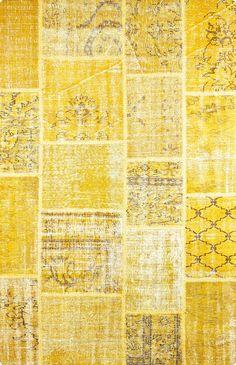 Patchwork   Gelb   160 cm x 230 cm