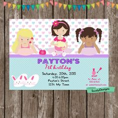 Pajamas Sleepover Girl Birthday  Invitation by LovelyDesings