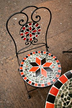 Mosaic chair and table