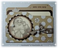 """File Folder Card """"Wunschzettel"""" made with the envelope punch board Love the tiny jingle bell!"""