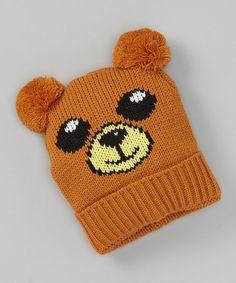 Loving this Brown Bear Beanie on #zulily! #zulilyfinds