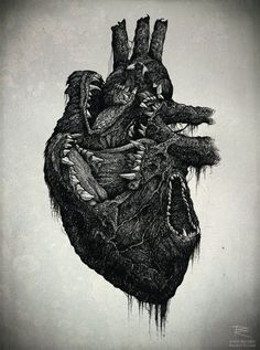 Hungry heart. This would make a sick and slightly creepy tattoo.