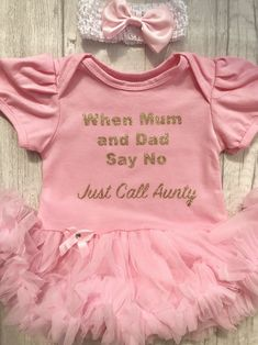 712da4f025d5b Cute baby girls light pink tutu romper with matching head band and bow for  aunty.