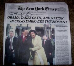 Cool Barack Obama Autographed Newspaper, Check out WWW.ALLAUTOGRAPH.COM