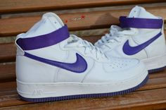 Air Force 1, 1989, white and purple, hi top