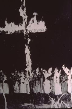 Knights of the Ku Klux Klan rally, Saskatchewan, circa 1925: The KKK claimed chapters in 100 Sask towns until the 1930s