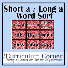 Vowel sort activities for independent work. Do they have a printable sheet to go with for accountability? Sorting Activities, Teaching Activities, Teaching Ideas, Preschool Prep, Kindergarten Literacy, Curriculum, Homeschool, Phonics Centers, Word Sorts