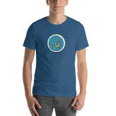 Items similar to Flat Earth Tee With Firmament And Day Night Cycle Sun Moon  Enoch Flat Earth Shirt Mens Womens Unisex on Etsy 0c53e222c