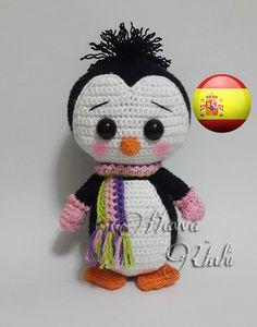 Patrón Español - Pingüino Adorable (Amigurumi Crochet)