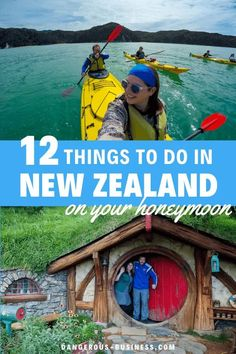 New Zealand is the perfect honeymoon destination. Here are 12 fun and adventurous things to do on your honeymoon in New Zealand, from kayaking to bungee jumping. Honeymoon In New Zealand, New Zealand Travel, Wildlife Tourism, Thermal Pool, Adventurous Things To Do, Couples Vacation, Bungee Jumping, Travel Memories, Honeymoon Destinations