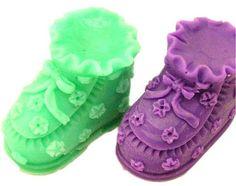 3d Par De Zapatos De Bebé Jabón Molde Jabón Molde Molde De Silicona Velas Molde Resina Molde