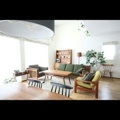 hisahsiさんの、グリーンのある暮らし,ボーエモーエンセン,北欧,デザイナーズ,北欧ヴィンテージ,北欧インテリア,部屋全体,のお部屋写真