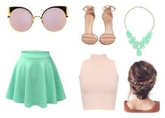 """""""Baby pink outfit"""" by emerson-lea on Polyvore featuring Fendi, LE3NO, Stuart Weitzman, WearAll and Kendra Scott"""