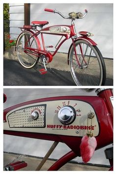 I would totally buy this retro bike just to get the radio feature. Bought a vintage bike once and it didn't ride very easily Velo Retro, Velo Vintage, Vintage Bicycles, Retro Bikes, Retro Bicycle, Old Bicycle, Old Bikes, Bicycle Basket, Velo Beach Cruiser