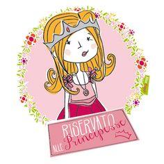 Illustrazione per feste...riservate alle principesse! Illustration for parties reserved for princesses!