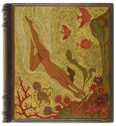 ce-sac-contient: Marcel Schwob - Vies imaginaires. Paris, Le Livre contemporain, 1929 In-quarto, reliure Art Deco de N. Ralli.