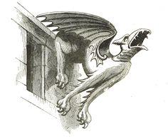 Vintage Gargoyle Illustration - Clip Art