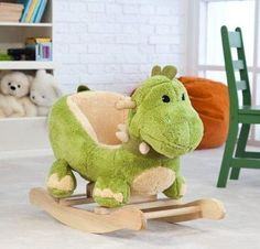 Best Ideas For Baby Boy Nursery Dinosaur Rocking Chairs Baby Boys, Baby Boy Rooms, Baby Boy Nurseries, Die Dinos Baby, Baby Dinosaurs, Dinosaur Nursery, Dinosaur Toys, Dragon Nursery, 11 Month Old Baby