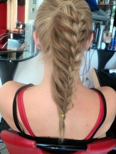 Braided Ponytail Hairstyle: Long Straight Hair Trends