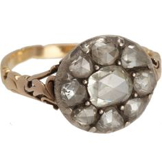 Olivia Collings Antique Jewelry Rose Cut Diamond Cluster Ring Sale up to 70% off at Barneyswarehouse.com