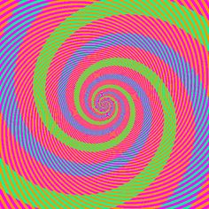 """optical illusion: the """"green"""" and """"blue"""" spiral arms are actually the same color!"""