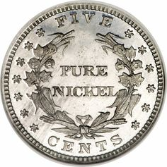 LIberty Head V Nickel Patterns. Says may not be 'pure nickel'! Coin Art, Gold And Silver Coins, World Coins, Rare Coins, Liberty, Stamps, United States, Collections, Notes