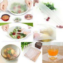 Multifuncional alimentos frescos manter Saran Wrap cozinha ferramentas de extensão de tampa de vedação de Silicone Food envoltórios(China (Mainland))