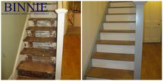 Before and After Binnie Maintenance and Refurbishment Ltd. Refurbishment, Stairs, Projects, Home Decor, Restoration, Log Projects, Stairway, Blue Prints, Decoration Home