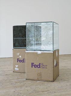 Walead Beshty's -  FedEx Sculptures series(2005 - present).