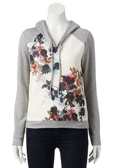 Eyelash High-Low Quilted Hoodie - Juniors #Kohls