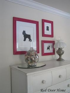 Red Door Home: Bedroom Makeover Part 3 – Dog Silhouettes