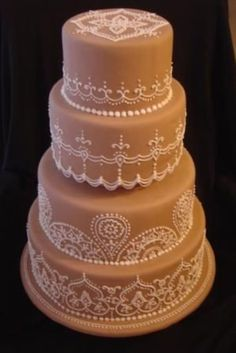 Henna Wedding Cake on Cake Central
