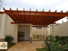 Pergolado, Pérgola e Caramanchão em Eucalipto ou madeira aparelhada - COBRIRE Construções em Madeira