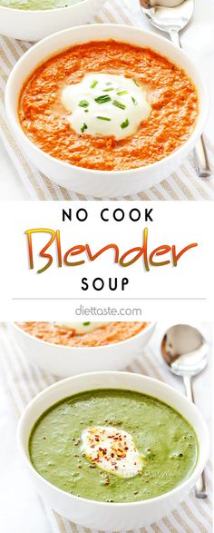 No Cook Blender Soup - nice way to eat more vegetables - simple and tasty Cooks Blender, Blender Soup, Hand Blender, Raw Food Recipes, Cooking Recipes, Healthy Recipes, Jelly Recipes, Ninja Blender Recipes, Ninja Recipes