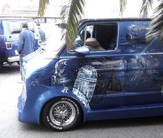 Battlestar Dodge tandem custom van, via Flickr.