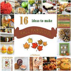 16 Ideas to Make Fall Fabulous at TidyMom.net